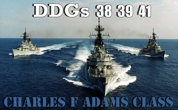 Charles F Adams class guided missile destroyers