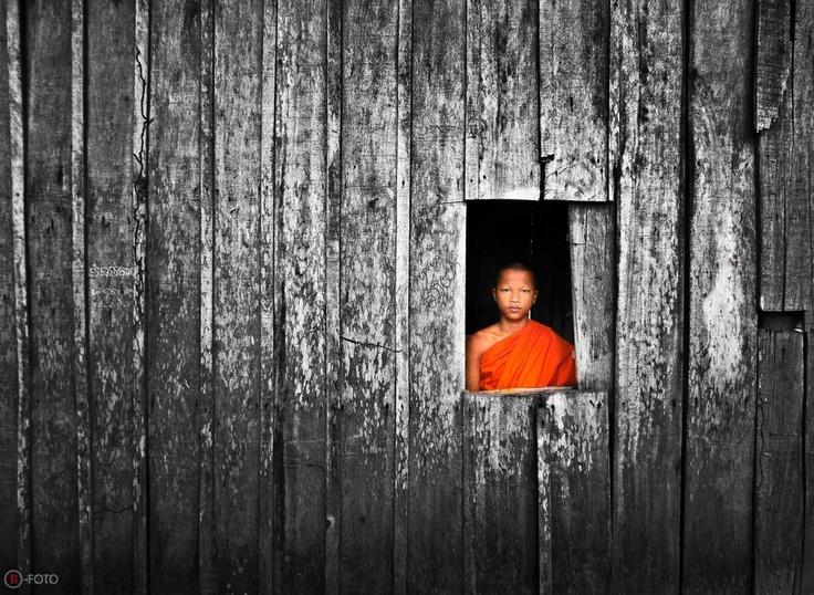 """Younk monk"" by Bunnawath ( B-FOTO ), via 500px."