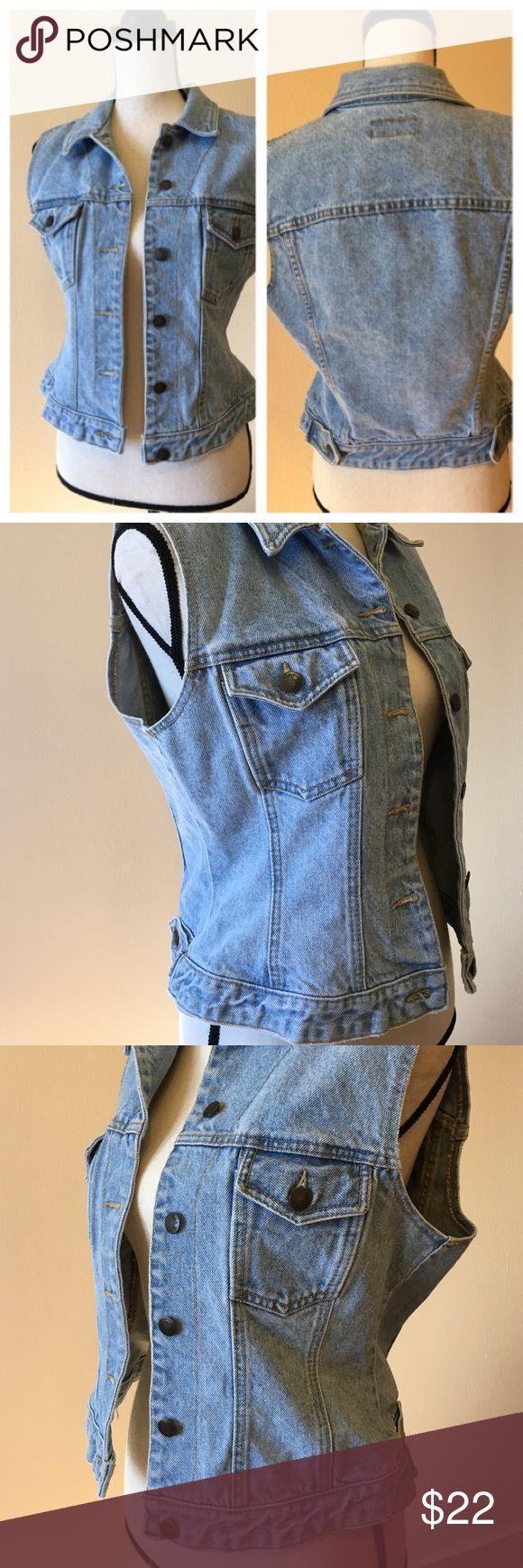 Vintage Paris Blues denim sleeveless jacket Excellent condition 👌 Paris Blues Jackets & Coats