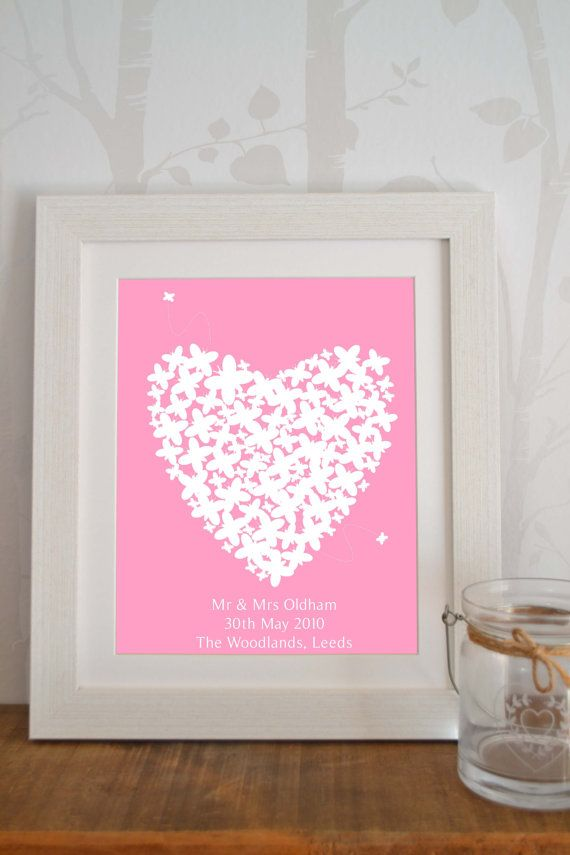 Wedding Gift Mr & Mrs Framed Art Print by SewInLoveGifts on Etsy
