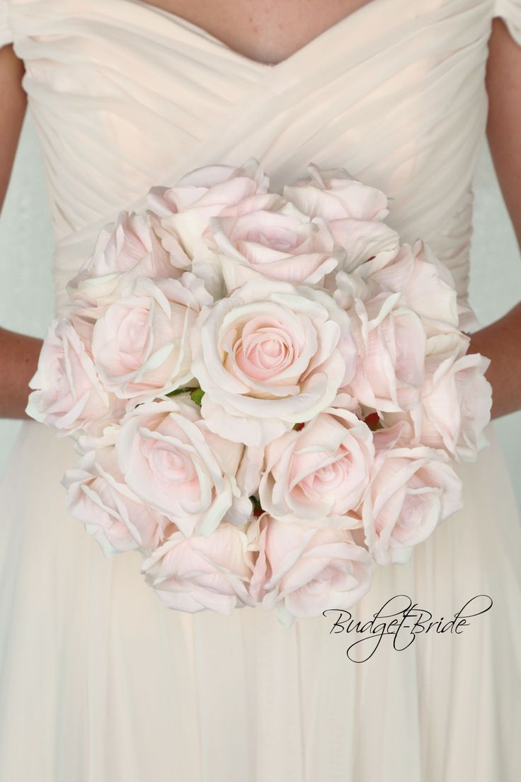 2c999dd90a7 Blush Davids Bridal Wedding Bouquet with blush roses
