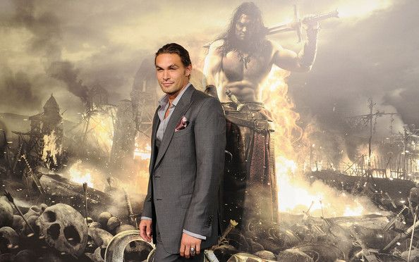 "Jason Momoa Photos Photos - Actor Jason Momoa attends the world premiere of ""Conan The Barbarian"" held at Regal Cinemas L.A. Live on August 11, 2011 in Los Angeles, California. - Premiere Of Lionsgate Films' ""Conan The Barbarian"" - Arrivals"