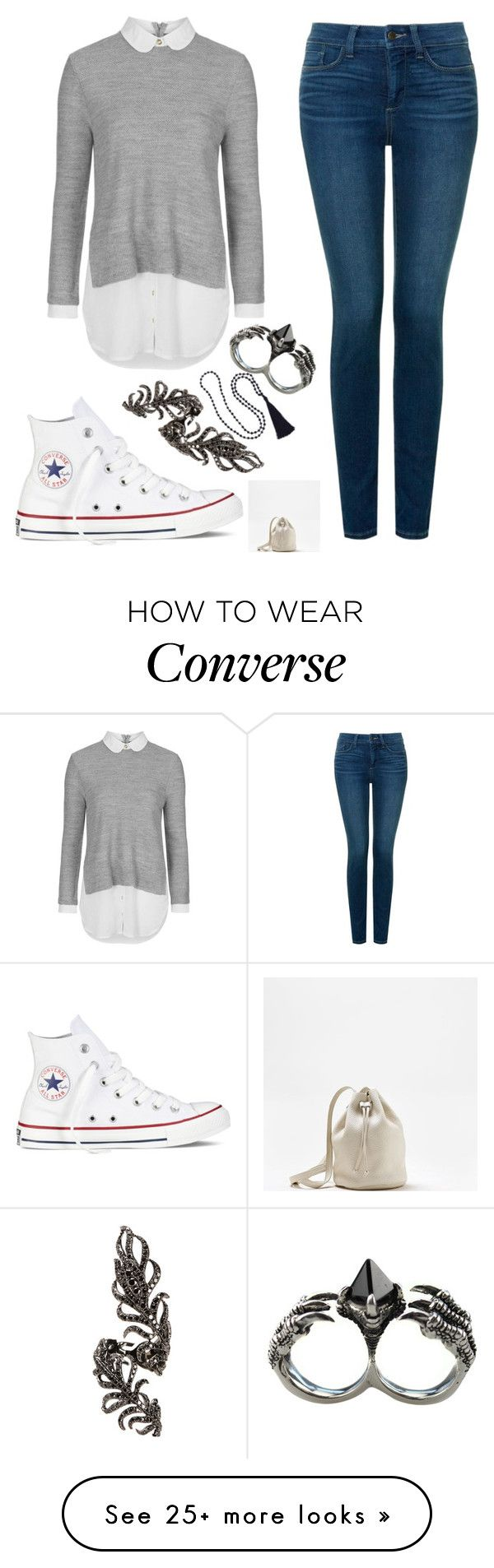 """Untitled #498"" by tokyoghoul1 on Polyvore featuring NYDJ, Topshop, Converse, Elise Dray, KD2024, American Eagle Outfitters, women's clothing, women's fashion, women and female"