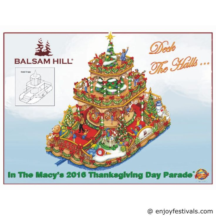 On Christmas Tree Float - Macy's Thanksgiving Parade 2016