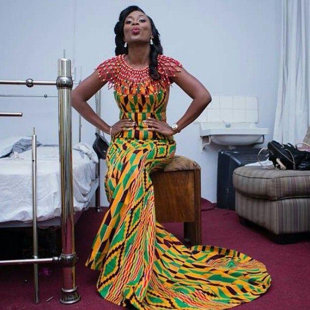 Beautiful Ghanaian Kante Styles Long Skirt Http Www