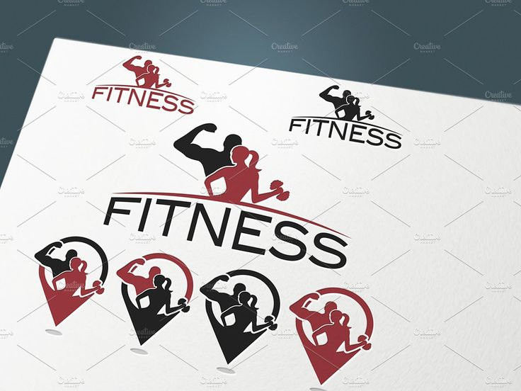 Fitness set by UVAconcept on @creativemarket
