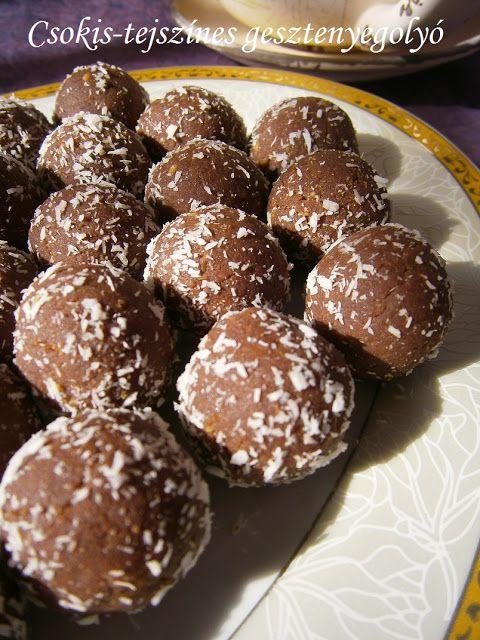 Hankka: Csokis-tejszínes gesztenyegolyó
