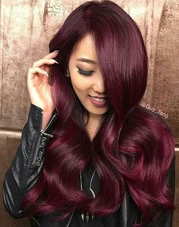 violet-red-hair-color-trends purple dahlia