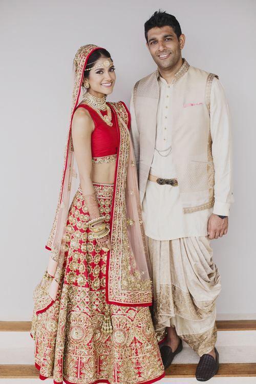 Melanie Kannokada Chandra Manish Malhotra Red lehenga-in love!!!