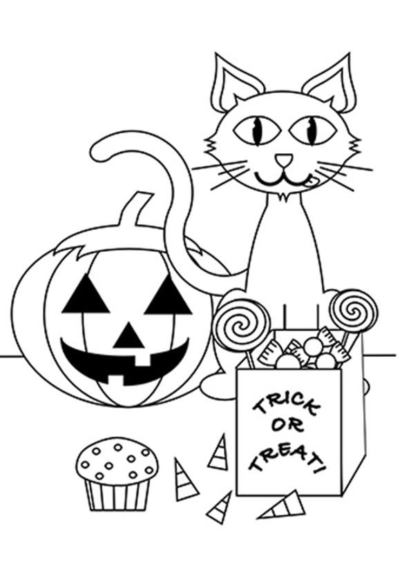 Top 25 Scary Halloween Cat Coloring Pages For Toddlers ...