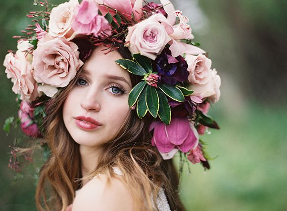 ❀ Flower Maiden Fantasy ❀ beautiful photography of women and flowers - Floral Crown by Fallon Shea and Jess Wilcox