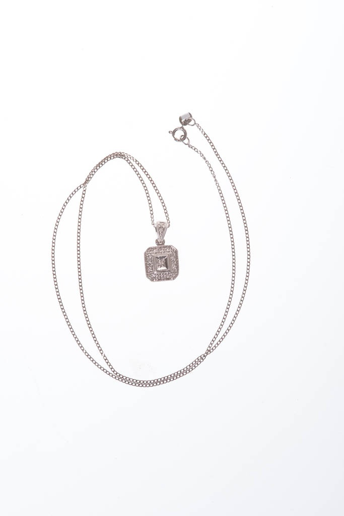 18 ct White Gold diamond set (includes ring, earrings & necklace) Special Mother's Day price of R7999.99 from Crown Jewellers