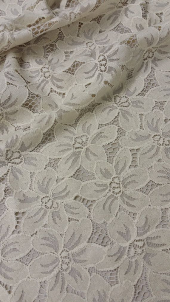 Beige lace fabric by the yard, French Lace, Embroidery lace, Wedding Lace, Bridal lace White Lace Veil lace Lingerie Lace Chantilly Lace
