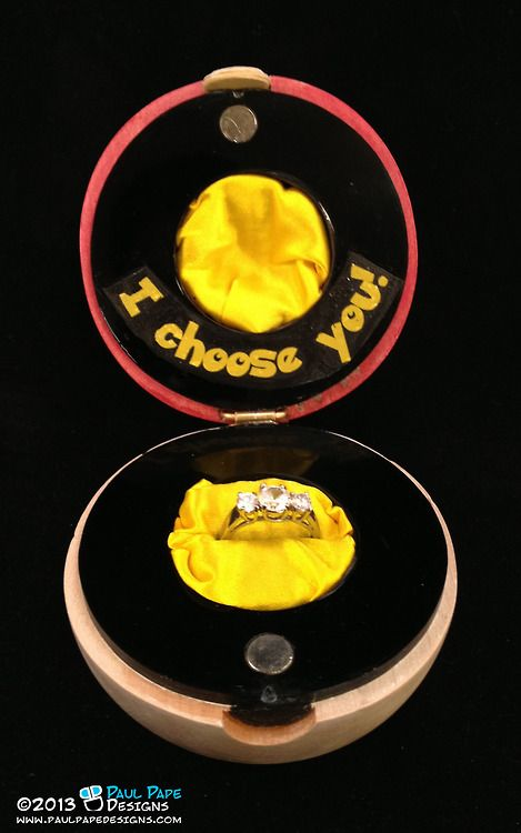 Pokemon wedding ring pokeball container