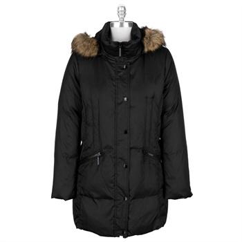 Hilary Radley Faux Fur Trimmed Jacket
