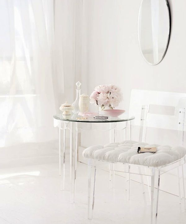 Love The Ghost Chair And Table    Normally Modern Looks So Romantic And  Soft Here!learn More At The Cinderellaproject