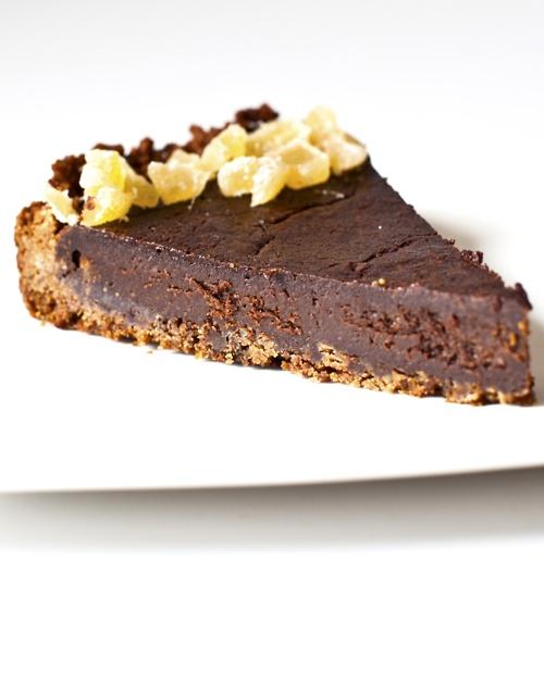 Dark Chocolate Tart With Gingersnap Crust Recipe — Dishmaps