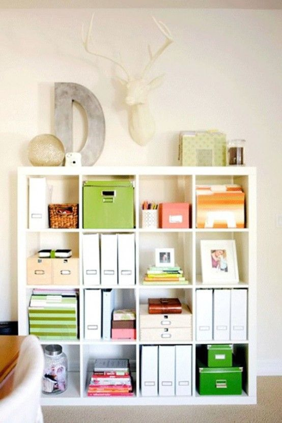 Beautiful Expedit Kallax storage and organization for office files