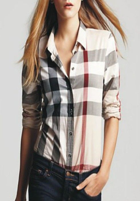 One possible look with a plaid shirt. They can also be layered over tee shirts for sort of a 1990s retro look or worn under a sweater.
