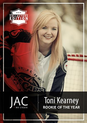 Toni Kearney | Rookie of the Year | JAC welcomes our newest team member, Toni Kearney, to the ice. Playing in the regions of social media, web development, market report writing and blogging, she has already been benched twice this year for digs to the shins and stick-to-knee slams. Watch out!