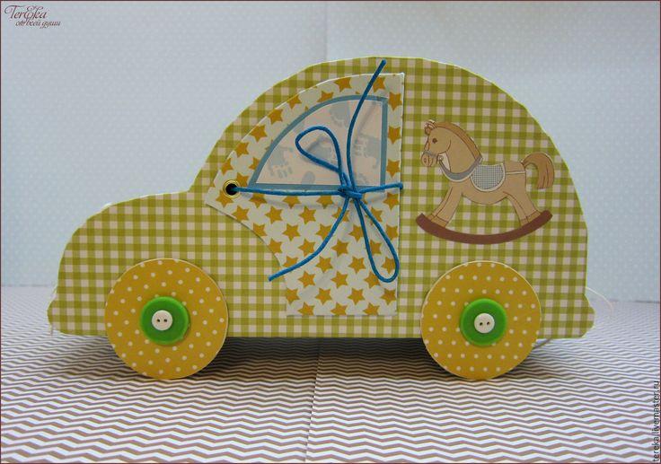 """Купить Мамины сокровища """"Автомобиль"""" - салатовый, зеленый, желтый, голубой, автомобиль, машинка, мамины сокровища"""