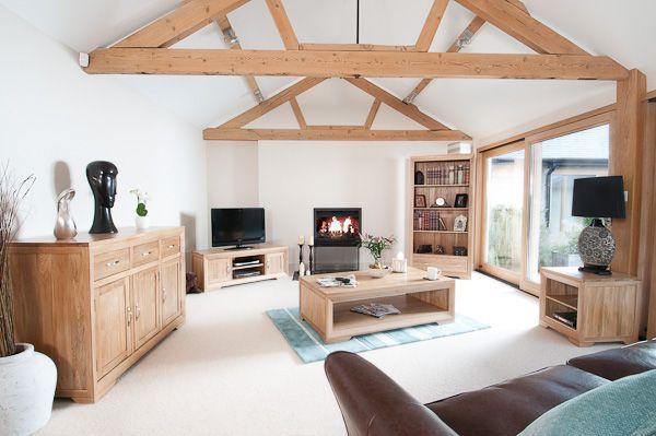 marvellous solid oak living room furniture | Bevel Solid Light Oak Range - Living Room Furniture - Oak ...
