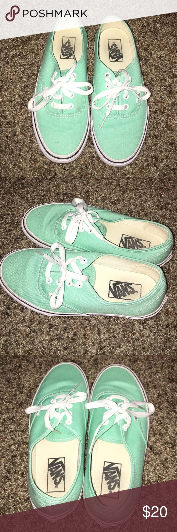 {24 HOUR SALE} Vans: mint vans Mint vans. Slightly dirty but not bad. They'll clean in the washer! Size 7 in women's. Men's in 5.5. Vans Shoes Sneakers