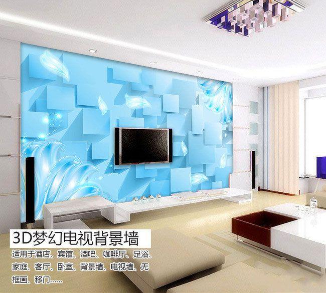 Синяя туча 3d-телевизор диван фона фотообоями из гостиной спальне исследование бумажные обои