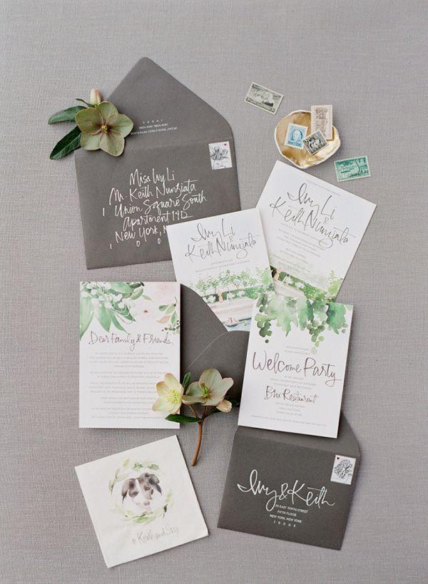 vineyard themed grape wedding invitations for botanical wedding ideas