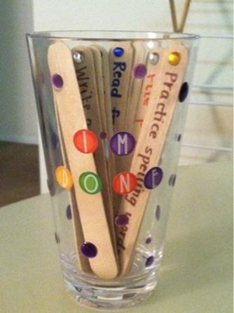 5 Classroom Tips and Tricks ♥ For early finishers- students pick a stick when they are finished that gives them an activity to do. You can make it anything from read a book to write a letter to a friend in Spanish. Source