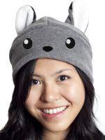 crazyheads Fleece Grey Fox Hat- SALE $9.99