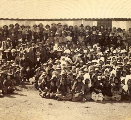 Kampkinders in Norvalspont konsentrasiekamp se skool