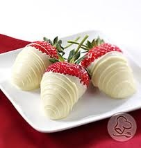 White Chocolate Dipped Red Strawberries. Perfect for Canada Day #PCCanadaday