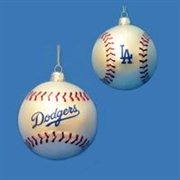 DKSA MB4101LAD: Pack Of 6 MLB Dodgers Baseball 80MM Glass Christmas Ornaments