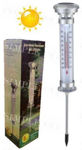 Outdoor-Termometro-manometro-con-LUCE-SOLARE-A-LED-LUCE-RICARICABILE-LAMPADA-GIARDINO