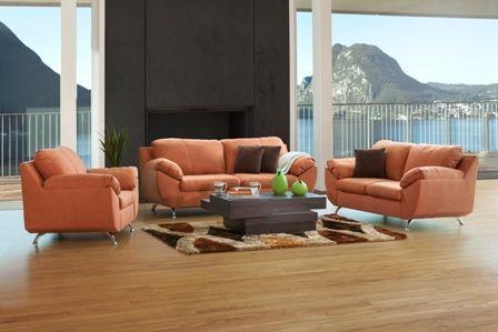 Sala Liz Natura Sofa Love Seat Sillon Color Naranja