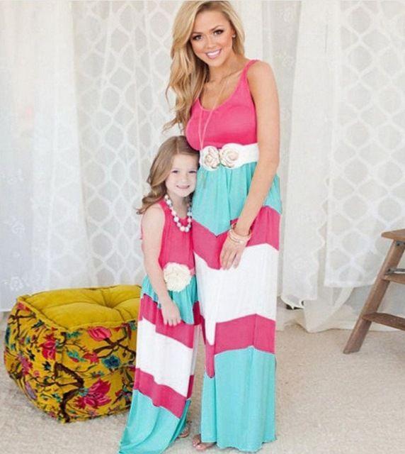 Domeya 2017 мать дочь красные платья 6 цвет семья посмотрите clothing летом соответствия мать дочь одежда для детей наряды купить на AliExpress