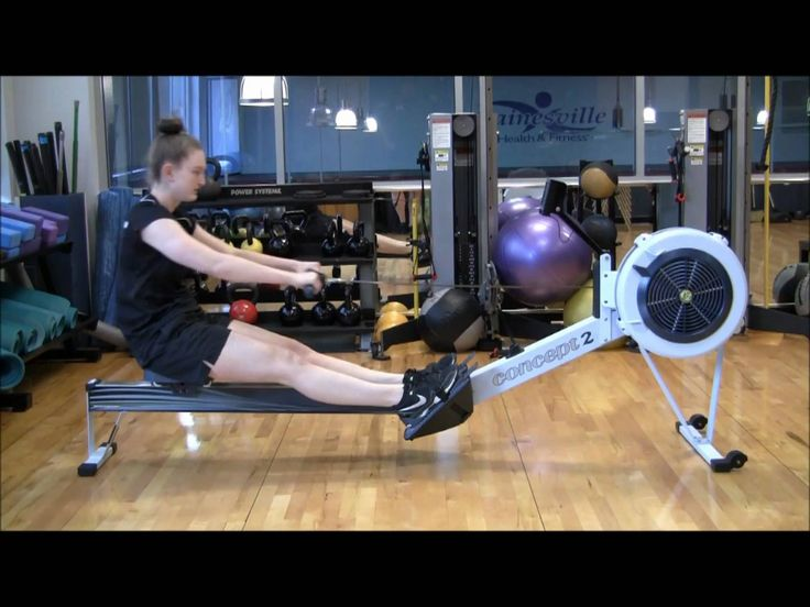 Correct rowing form.