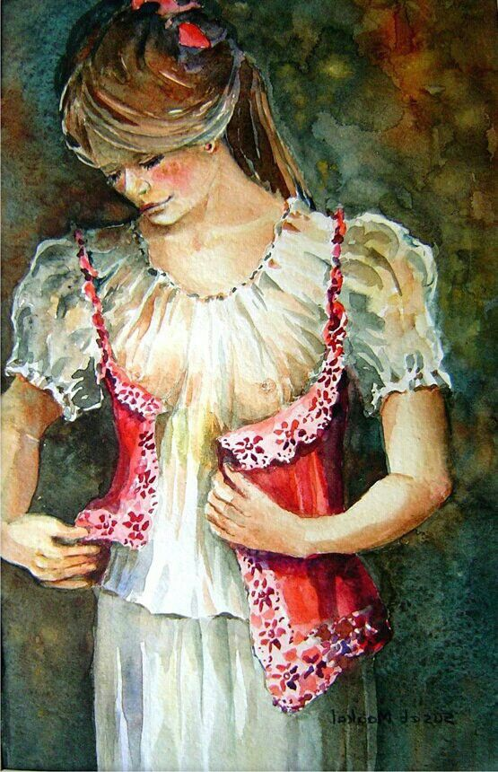 Girl with a waistcoat by  Suset Maakal