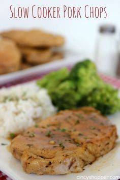 Slow Cooker Pork Chops Recipe. An Easy Crock-Pot recipe that is perfect for fall dinners. Finally a pork chop recipe that works and did not turn out dry or tough and chewy.
