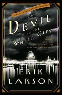 "The Devil in the White City: Murder, Magic, and Madness at the Fair That Changed America (Crown Publishers, ISBN 0609608444) is a 2003 non-fiction book by Erik Larson presented in a novelistic style. The book is set in Chicago circa 1893, intertwining the true tales of Daniel H. Burnham, the architect behind the 1893 World's Fair, and Dr. H.H. Holmes, the serial killer who lured his victims to their death in his elaborately constructed ""Murder Castle."""
