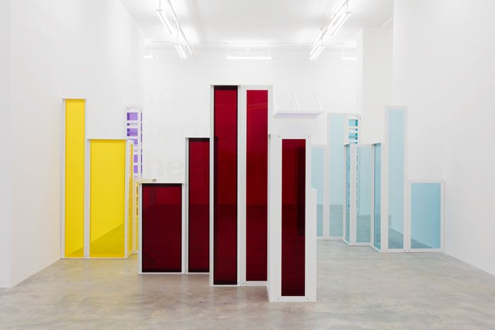 Liam Gillick, 'Phantom Structures,' 2016, installation view. JEAN VONG/COURTESY THE ARTIST AND CASEY KAPLAN, NEW YORK