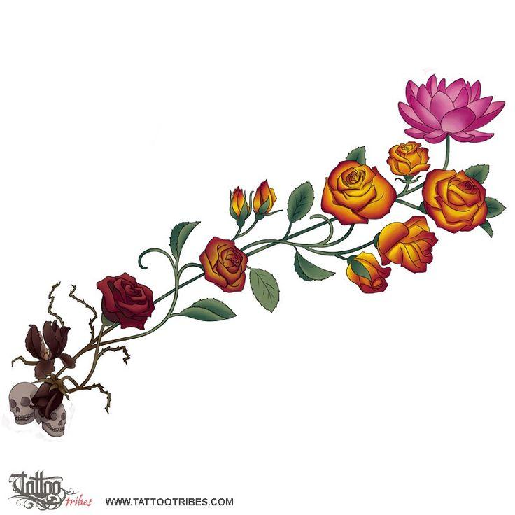 oltre 25 fantastiche idee su tatuaggi di rose su pinterest tatuaggio di rosa al braccio. Black Bedroom Furniture Sets. Home Design Ideas