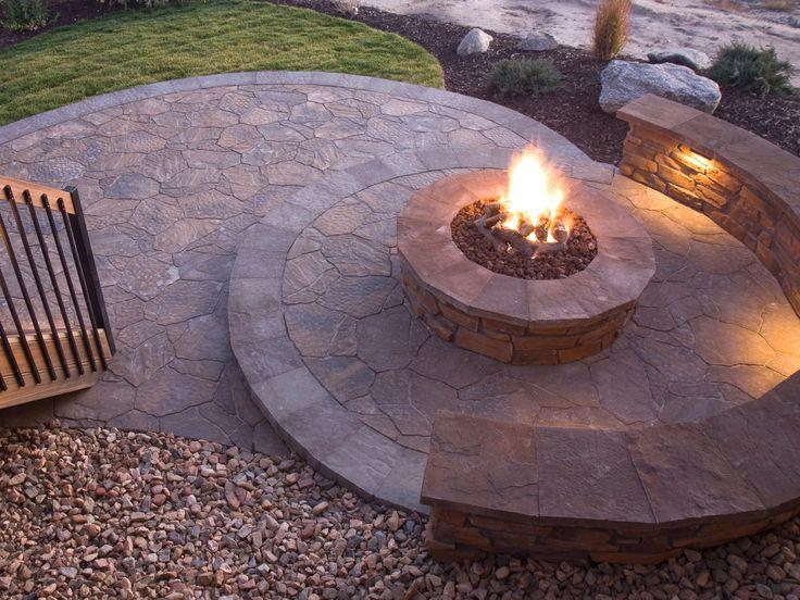 inspiration for backyard fire pit designs - Versunkene Feuerstelle Designs