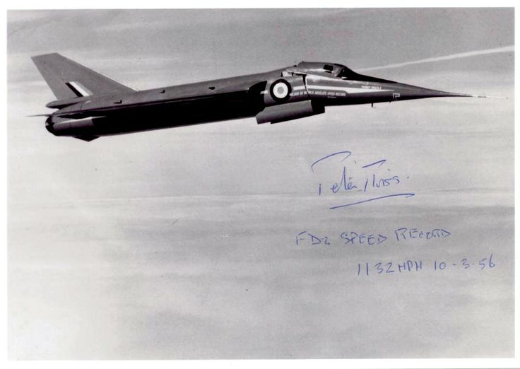 Fairey Delta FD-2 Photo signed by test pilot Peter Twiss