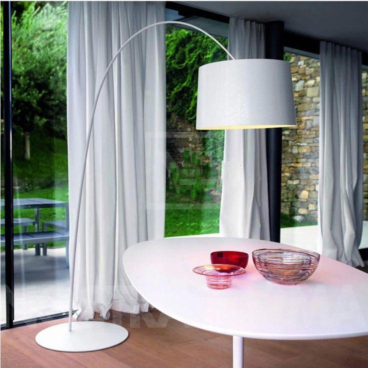С длинной шеей торшер свет простой, красочный дизайн Кунг-красный черный современный творческий торшер AC220V вход 3x3 Вт E27 светодиодные лампы