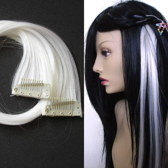 White Clip On Hair Extensions Human Hair Extensions