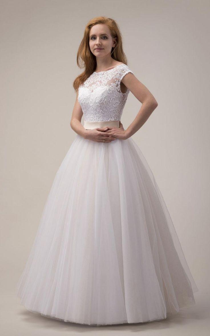 Brautkleid Hochzeitskleid creme blush puder Maßanfertigung
