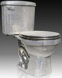 Possible show barn bathroom accessory...we think so it's your barn let it shine! Swarovski toilet to go with my swarovski tub