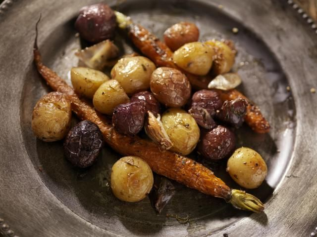 Serve your stew or slow-roasted brisket with a vegetarian side. Dense, low-moisture vegetables, like squash and potatoes should be browned and salted for a perfect finish.